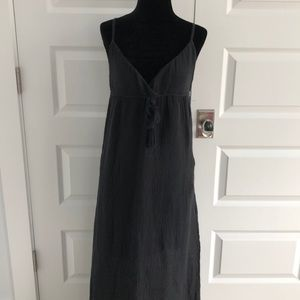 Black Sundress with brocade hem